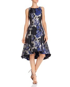 Adrianna Papell - Metallic Floral Fit-and-Flare Dr