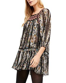 Free People - Dance Magic Embroidered Tunic Dres