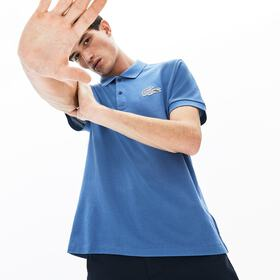 Lacoste Men's Regular Fit Checkered-Logo Piqué Pol