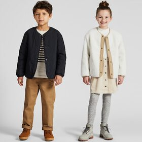 KIDS PILE-LINED FLEECE QUILTED REVERSIBLE JACKET,