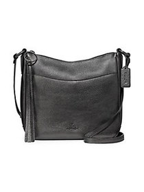 COACH Chaise Leather Crossbody Bag GUNMETAL