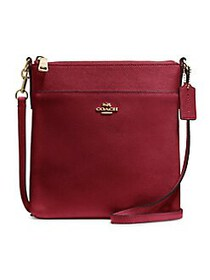 COACH Leather Crossbody Bag RED