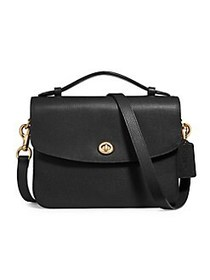COACH Cassie Leather Crossbody Bag BRASS BLACK