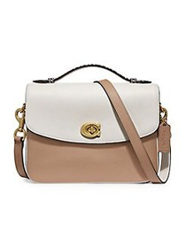 COACH Cassie Leather Crossbody Bag BEIGE