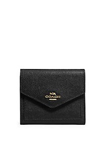 COACH Small Leather Wallet BLACK