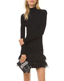 MICHAEL Michael Kors - Textured Feather-Trimmed Mi