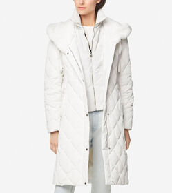 Cole Haan Diamond Quilted Essential Down Coat