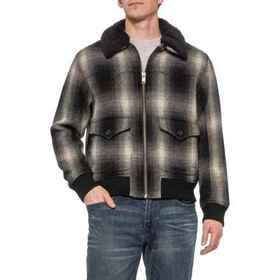 Frye Shadow Plaid Bomber Jacket - Insulated (For M