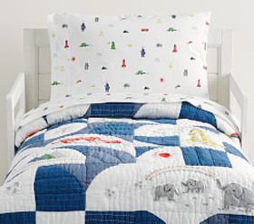Pottery Barn Preston Patchwork Muslin Toddler Quil