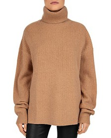 The Kooples - Smooth Mix Wool & Cashmere Turtlenec