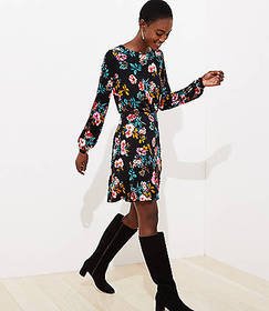 Floral Bar Back Flare Dress