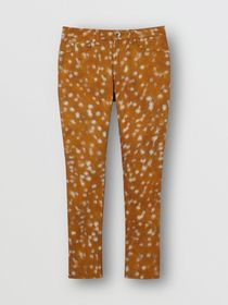 Burberry Skinny Fit Deer Print Japanese Stretch De