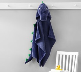Pottery Barn T Rex Baby Hooded Towel
