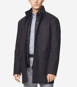 Cole Haan Melton Wool 3-in-1 Coat