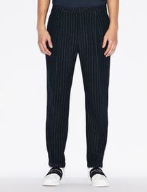 Armani WOOLLEN BLEND PINSTRIPED TROUSERS