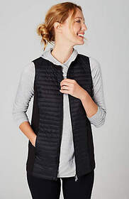 Fit Mixed-Media Puffer Vest