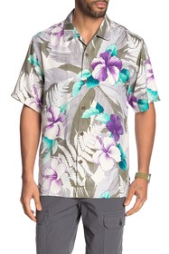 Tommy Bahama Hibiscus Hues Tropical Floral Print S