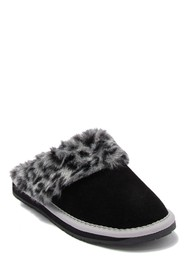 Minnetonka Traditional Scuff Faux Fur Lined Slippe