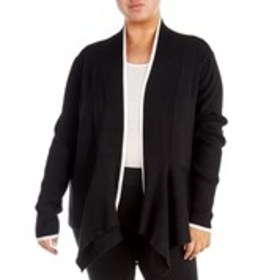 VERVE Plus Size Long Sleeve Draped Cardigan