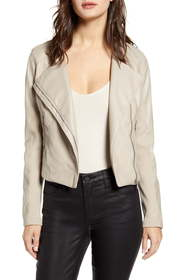 BLANKNYC Record Breaker Collarless Faux Leather Mo