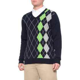 Bobby Jones Argyle V-Neck Golf Sweater (For Men) i