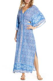 Surf Gypsy Open Back Cover-Up Maxi Dress