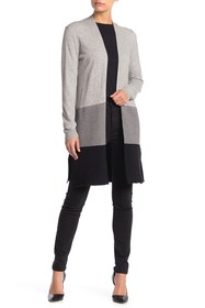JOSEPH A Colorblock Knit Cardigan (Petite)