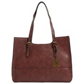 BUENO Bueno Tumbled Buckle Strap Tote with Flower