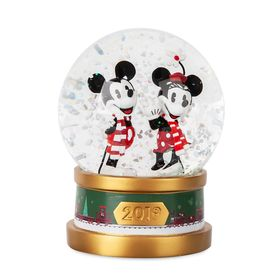 Disney Mickey and Minnie Mouse Holiday Snowglobe 2