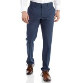 Mens Very Slim Fit Blue Dress Pants