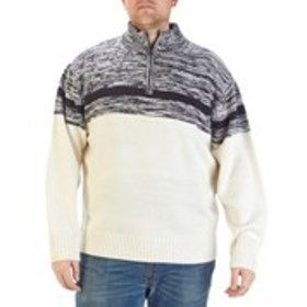 PARK SLOPE Big & Tall Quarter-Zip Acrylic Sweater