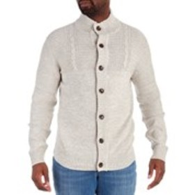 METHOD Mens Button Front Mock Turtleneck Sweater