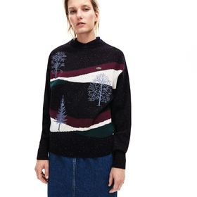 Lacoste Women's Winter Design Cotton And Wool Blen