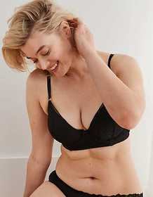American Eagle Aerie Real Power Plunge Push Up Bra