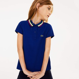 Lacoste Girls' A-Line Cotton Piqué Polo