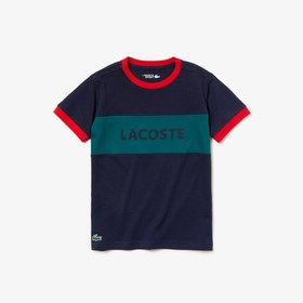 Lacoste Boys' SPORT Lettering Color-Block Breathab