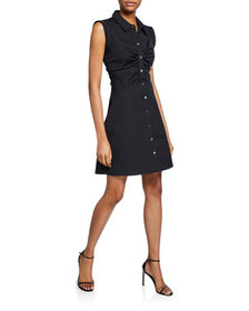 Veronica Beard Ferris Sleeveless Shirtdress