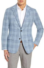Bonobos Slim Fit Unstructured Check Wool Blend Spo