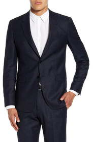 Theory Chambers Slim Fit Flecked Wool Blend Sport