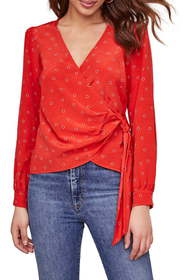 ASTR the Label Olympia Wrap Front Top