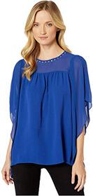 MICHAEL Michael Kors Cascade Sleeve Yoke Top