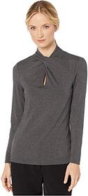 Vince Camuto Long Sleeve Twist Neck Top