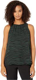 Vince Camuto Sleeveless Tranquil Animal Blouse