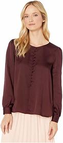 Vince Camuto Long Sleeve Puff Shoulder Hammer Sati