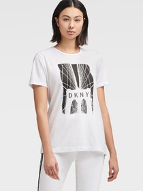 Donna Karan BROOKLYN BRIDGE LOGO T-SHIRT
