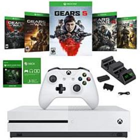 Xbox One S with Gears of War 5 and Dual Charger