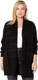 MICHAEL Michael Kors Plus Size Tinsel Stripe Long