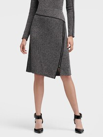 Donna Karan ASYMMETRICAL ZIP SKIRT