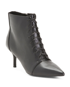CHARLES BY CHARLES DAVID Lace Up Pointy Toe Bootie