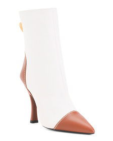 ESCADA Made In Italy Premium Leather Pointy Toe Bo